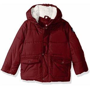 NWT Ben Sherman 12m burgundy bubble hooded jacket